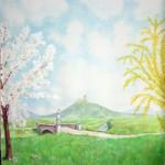Tavaszi tájkép - Fotó háttér