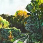 Ártéri út - Akvarell