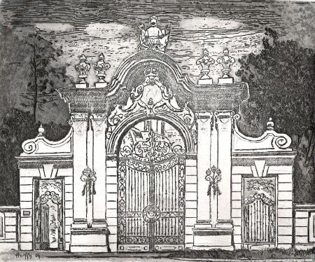 Barokk kapu, Keszthely - Balatoni rézkarcok