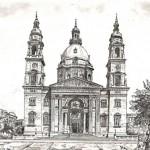 Szent István Bazilika - Budapesti rézkarc