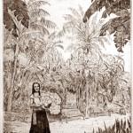 Biznaga árus lány - Spanyol rézkarcok