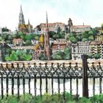 Budai Vár részlet - Budapesti akvarell
