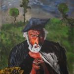 Csontvári most egy öregemberre gondol - Absztrakt festmény