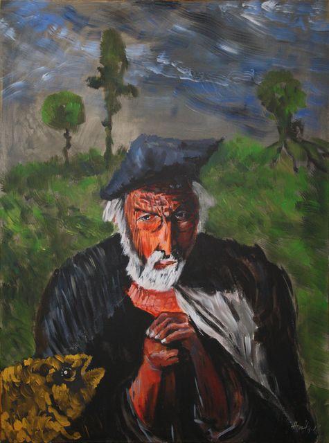 Csontváry most egy öregemberre gondol - Absztrakt festmény