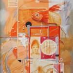 Egy aranyhal élete - Absztrakt festmény