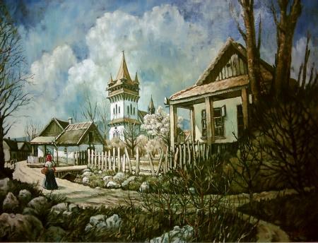 Erdélyi falu - Tájkép