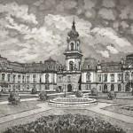 Festetics kastély - Balatoni rézkarc