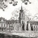 Festetics kastély Keszthely - Balatoni rézkarc
