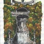 Gellért emlékmű - Budapesti akvarell