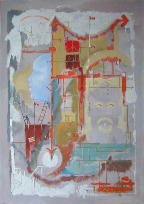 Ha eljön a kékarcú lány - Absztrakt festmény