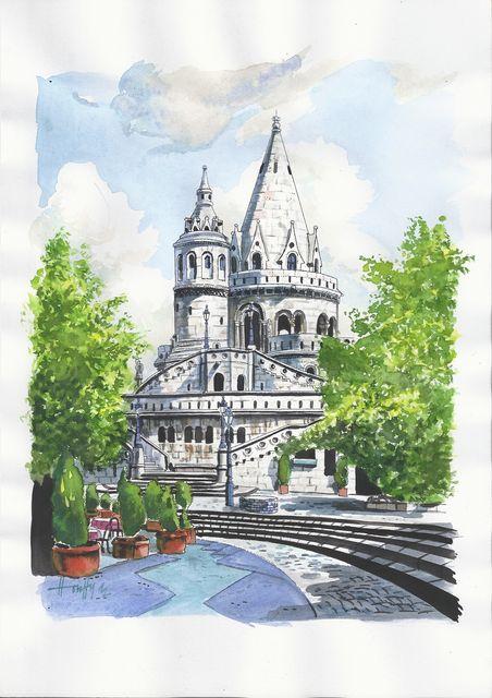 Halászbástya 1 2012 - Budapesti akvarell