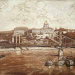Budapesti látkép - Budapesti rézkarc