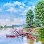 Horgász a stégen - Természet