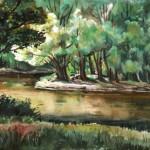 Hűvös folyópart - Akvarell