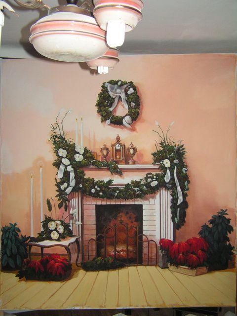 Karácsonyi kandalló - Fotó háttér