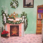 Kandalló - Karácsony - Fotó háttér