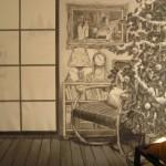 Karácsonyi hangulat - fekete-fehér - Fotó háttér