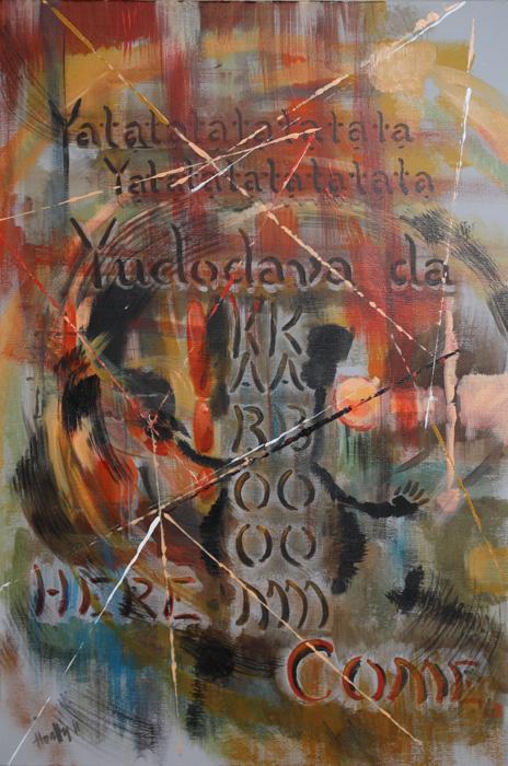 Kardtánc - Absztrakt festmény