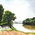 Kécskei komp - Akvarell