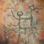 Kentaur - Absztrakt festmény