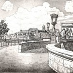 Lánchíd - Budapesti rézkarc