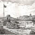 Lánchíd és a Várhegy - Budapesti rézkarcok