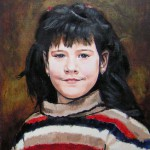 Kislány Nagykökényesről - Portré