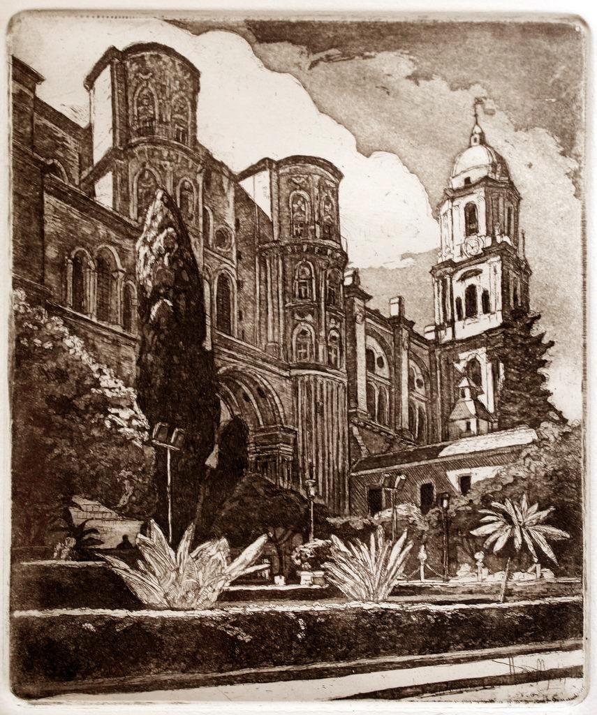 Malagai katedrális - Spanyol rézkarcok