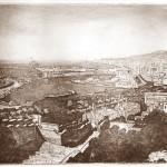 Malaga kikötői látkép