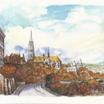 Mátyástemplom és a Halászbástya - Budapesti akvarell