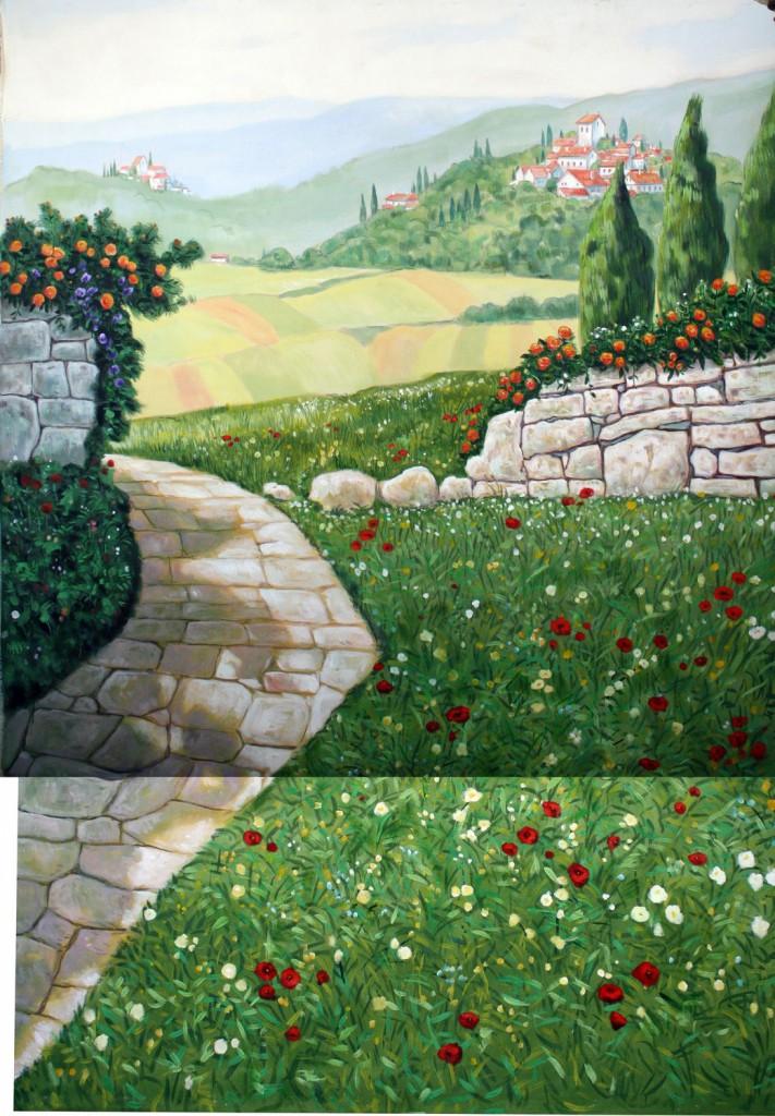 Mediterrán táj, tavaszi - 2. változat