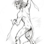 Oroszlánember - Rajzok