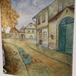 Őszi utca - Fotó háttér
