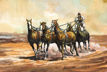 Ötösfogat 1 - Akvarell