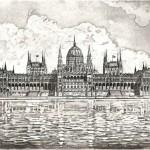 Parlament - Budapesti rézkarc