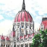 Parlament - Budapesti akvarell