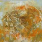 Rakpart - Absztrakt festmény