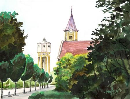 Siófok - Balatoni akvarell