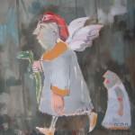 Szakrális képezet - Absztrakt festmény