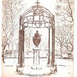 Szent István szobor - Vecsési rézkarc