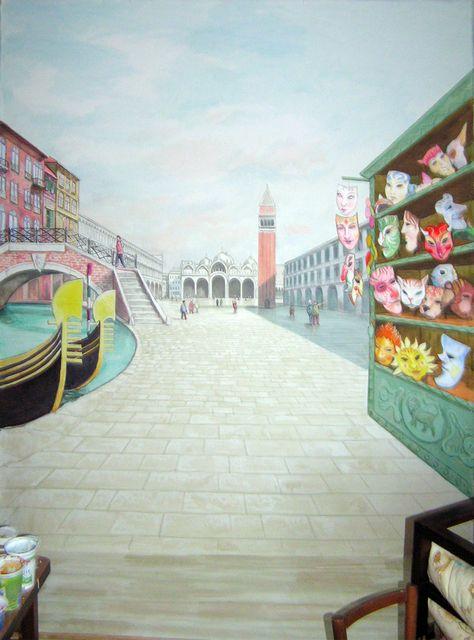 Szent Márk tér - Velence - Fotó háttér