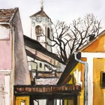 Szentendrei utcák 1 - Szentendrei akvarell