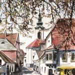 Szentendrei utcák 2 - Szentendrei akvarell