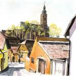Szentendrei utcák 3 - Szentendrei akvarell