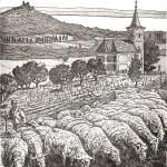 Szigliget - Balatoni rézkarc