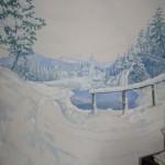 Téli táj - Fotó háttér