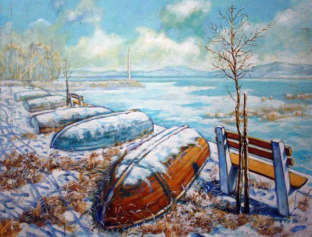 Téli csónakok - Tájképek