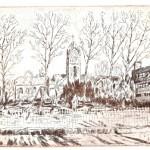 Templom és Gimnázium - Vecsési látkép