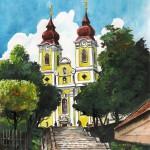 Tihanyi apátság - Balatoni akvarell