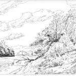 Tiszapart - Rajzok